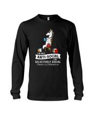 Unicorn anti social 1611 Long Sleeve Tee thumbnail