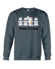 Unicorn Same is lame Crewneck Sweatshirt thumbnail