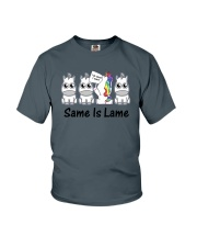 Unicorn Same is lame Youth T-Shirt thumbnail
