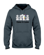Unicorn Same is lame Hooded Sweatshirt thumbnail