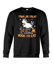 Unicorn trick or treat Crewneck Sweatshirt thumbnail