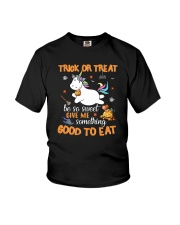 Unicorn trick or treat Youth T-Shirt thumbnail