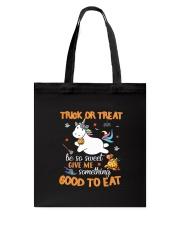 Unicorn trick or treat Tote Bag thumbnail
