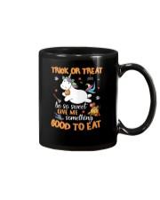 Unicorn trick or treat Mug thumbnail