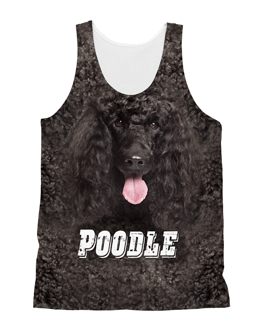 Poodle Cool 1606 All-over Unisex Tank