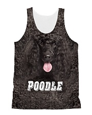 Poodle Cool 1606 All-over Unisex Tank front