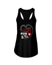 Pug Road To My Heart Ladies Flowy Tank thumbnail
