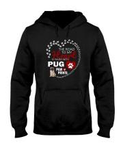 Pug Road To My Heart Hooded Sweatshirt thumbnail