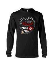 Pug Road To My Heart Long Sleeve Tee thumbnail