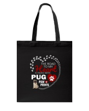 Pug Road To My Heart Tote Bag thumbnail