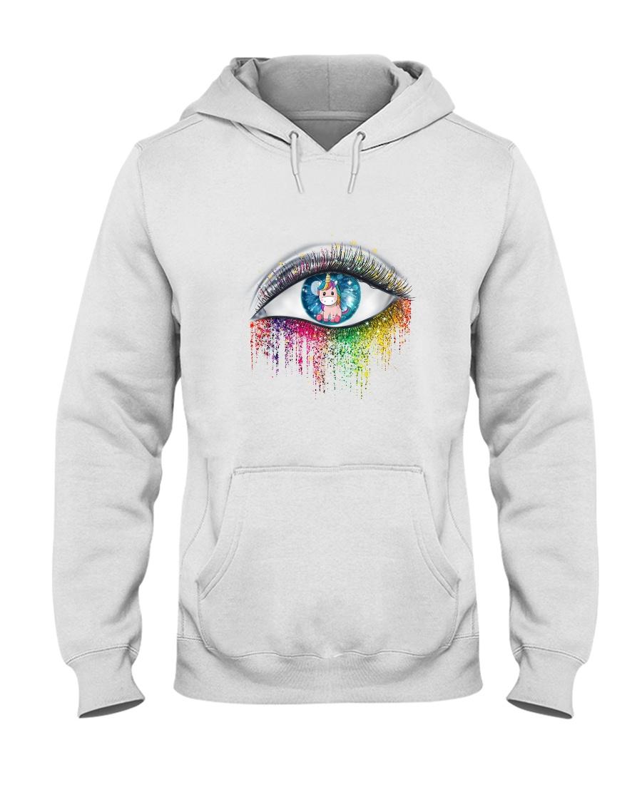Unicorn In Eyes 2209 Hooded Sweatshirt