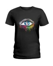 Unicorn In Eyes 2209 Ladies T-Shirt thumbnail