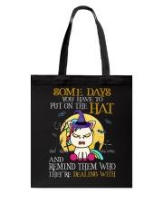 Unicorn Put On The Hat Tote Bag thumbnail