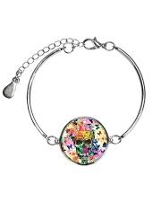Skull Flowers 2806 Metallic Circle Bracelet thumbnail