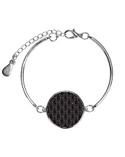 Black Cat Face  Metallic Circle Bracelet thumbnail