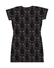 Black Cat Face  All-over Dress back