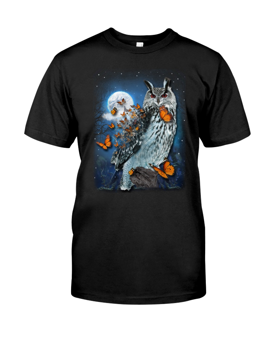 Owl and Butterfly Classic T-Shirt