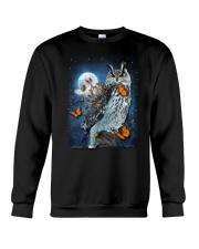 Owl and Butterfly Crewneck Sweatshirt thumbnail