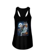 Owl and Butterfly Ladies Flowy Tank thumbnail