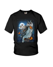 Owl and Butterfly Youth T-Shirt thumbnail