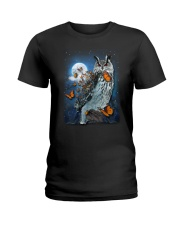 Owl and Butterfly Ladies T-Shirt thumbnail