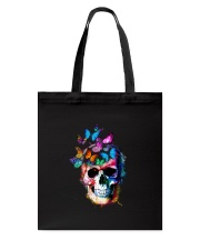 Skull Color Butterfly Tote Bag tile