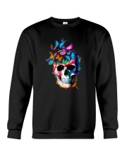 Skull Color Butterfly Crewneck Sweatshirt tile