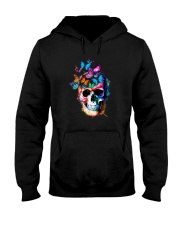 Skull Color Butterfly Hooded Sweatshirt thumbnail