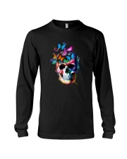 Skull Color Butterfly Long Sleeve Tee tile