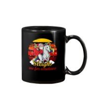 Santa And Unicorn Mug thumbnail