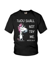 Unicorn Not Try Me  Youth T-Shirt thumbnail