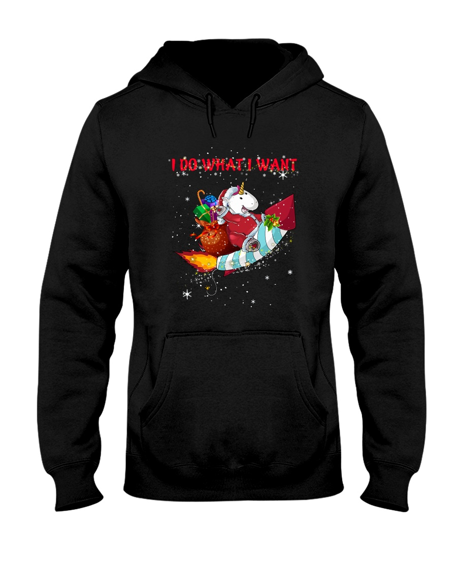 Unicorn I Do What I Want 2609 Hooded Sweatshirt
