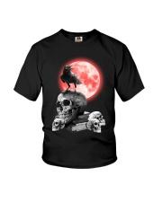 Skull gothic Youth T-Shirt thumbnail