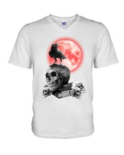 Skull gothic V-Neck T-Shirt thumbnail