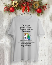 Aunticorn Classic T-Shirt lifestyle-holiday-crewneck-front-2