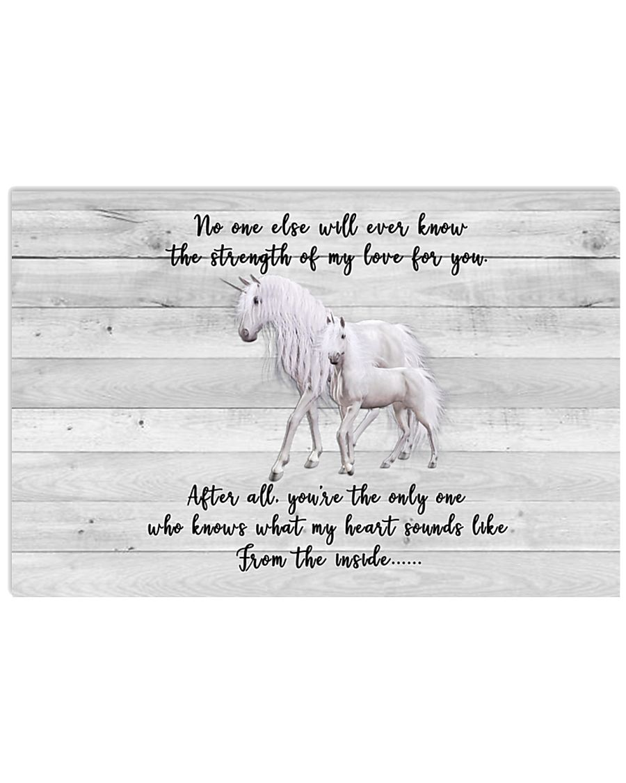 Unicorn  - The strength of my love for you 17x11 Poster