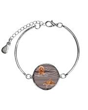 Poodle Striped  Metallic Circle Bracelet thumbnail