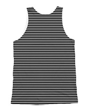 Poodle Striped  All-over Unisex Tank back