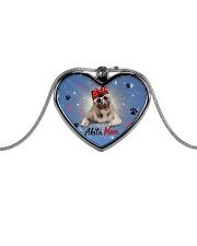 Akita mom 2106P Metallic Heart Necklace front