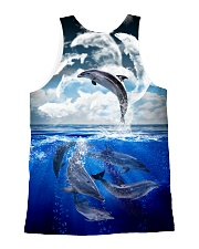 Dolphin Dance 1606 All-over Unisex Tank back
