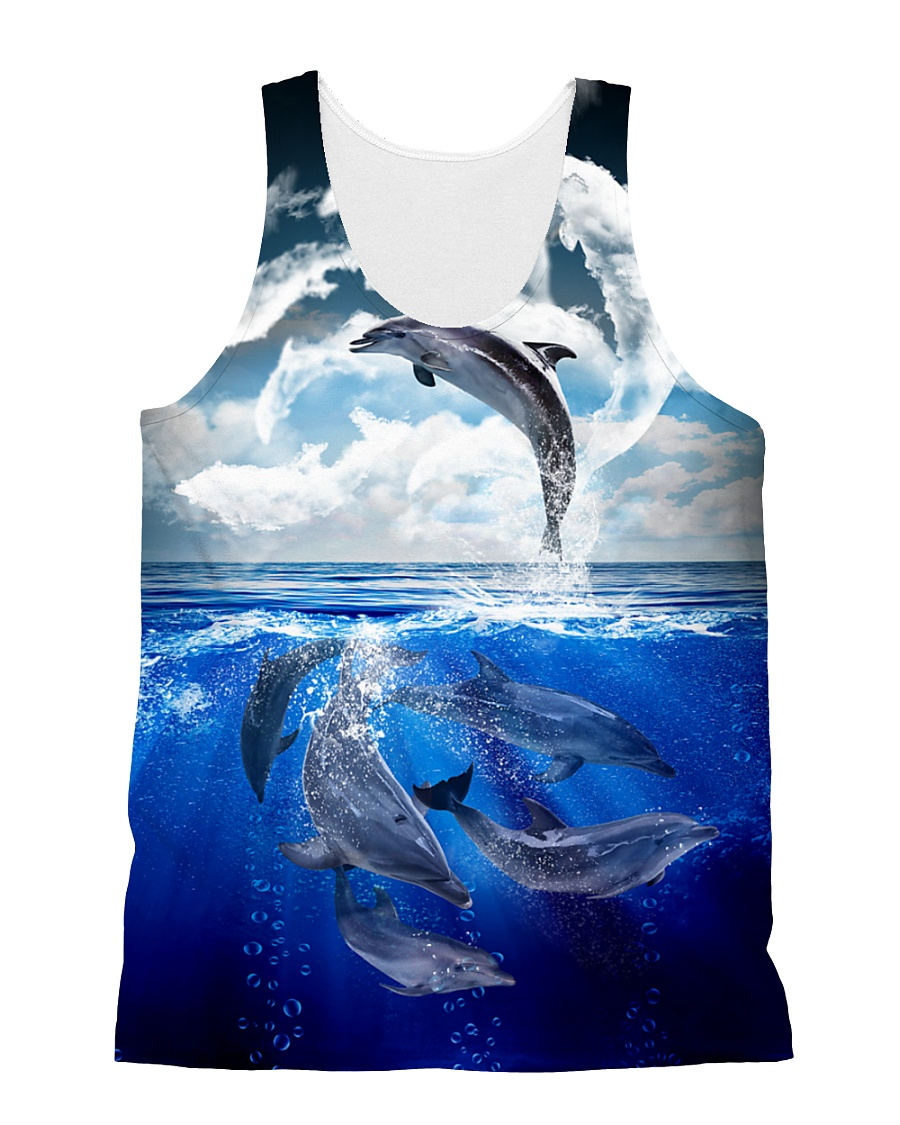 Dolphin Dance 1606 All-over Unisex Tank