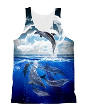 Dolphin Dance 1606 All-over Unisex Tank front