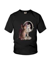 Cat Mirror Youth T-Shirt thumbnail