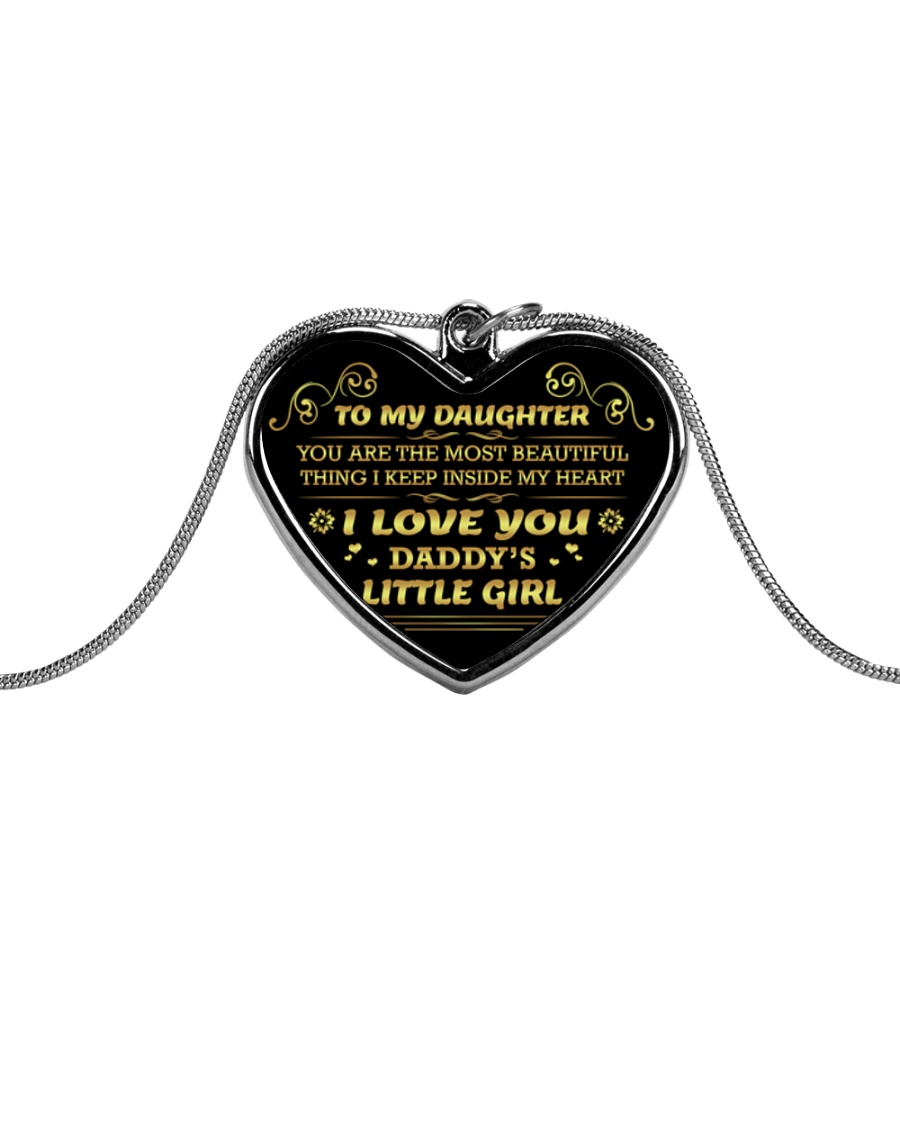 Daddys little girl 2106L Metallic Heart Necklace