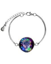 Wolf Galaxy  Metallic Circle Bracelet thumbnail