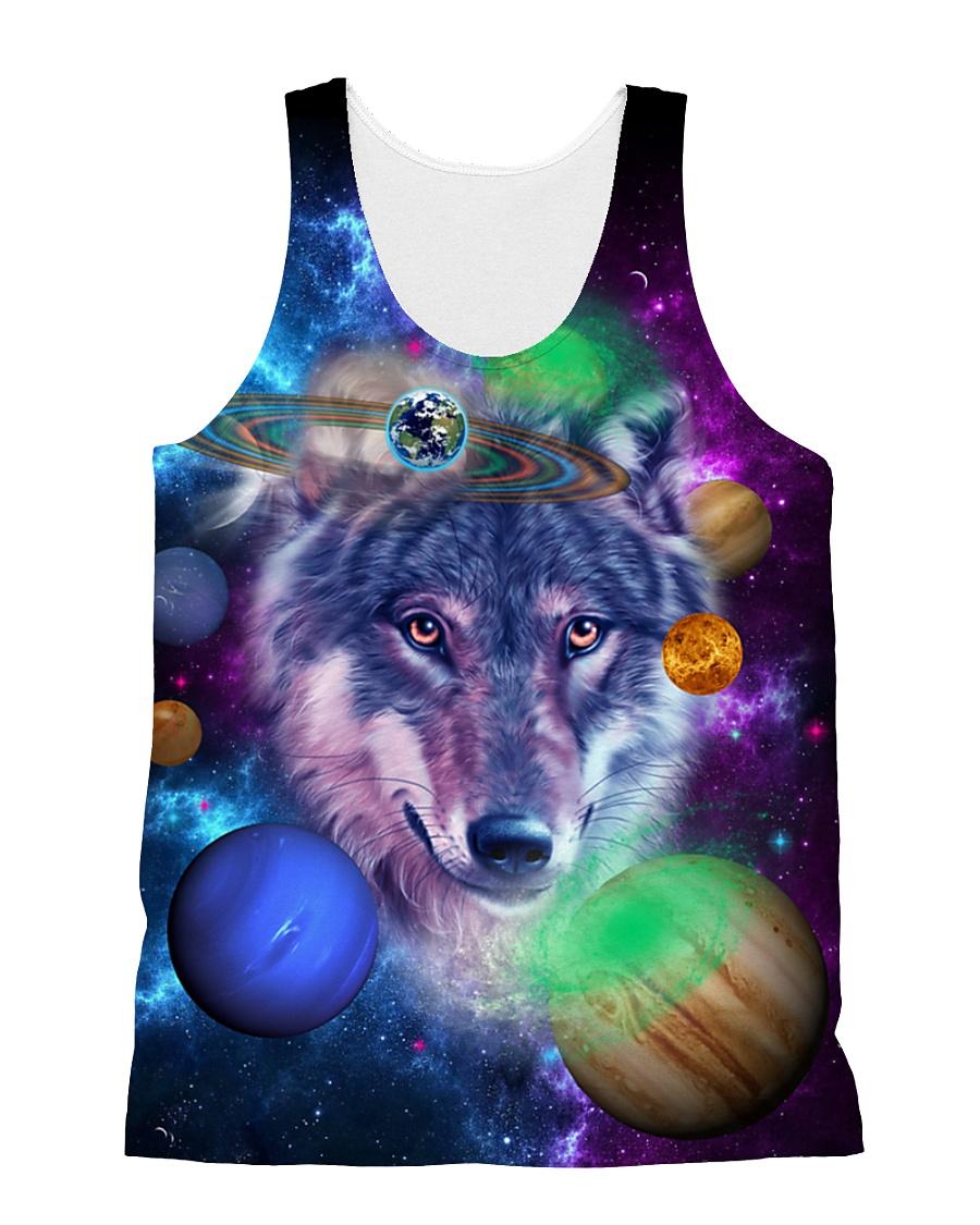 Wolf Galaxy  All-over Unisex Tank