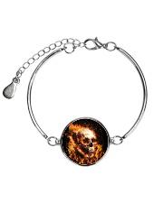 Skull rose fire Metallic Circle Bracelet thumbnail