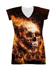 Skull rose fire All-over Dress thumbnail
