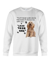 Poodle With You Crewneck Sweatshirt thumbnail