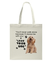 Poodle With You Tote Bag thumbnail